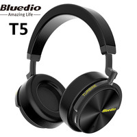 Bluedio T5 Active Noise Cancelling Wireless Bluetooth Headphone Portable Headset With Microphone For Gaming Music Phone
