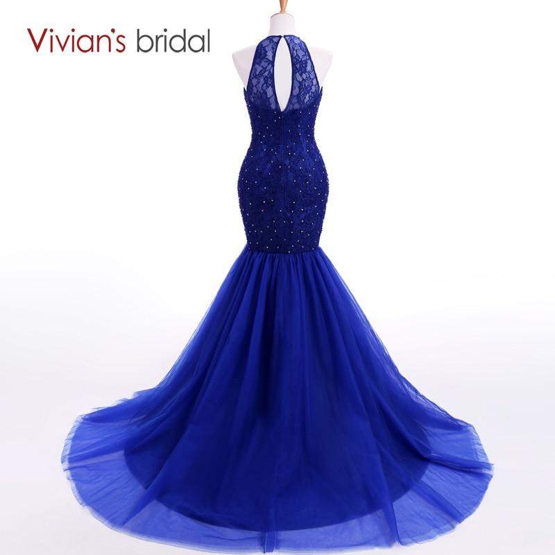 Vivian's svadba Halter bez rukava sirena večernja haljina dugo - Haljina za posebne prigode - Foto 3