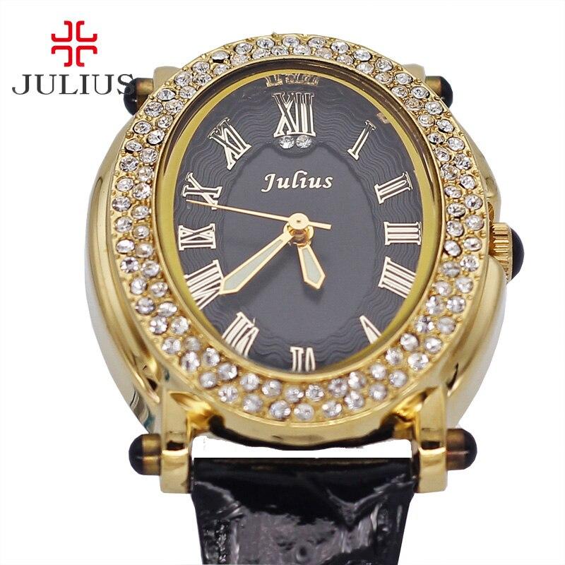 Retro Rome Lady Women s Watch Japan Quartz Hours Clock Fashion Dress Rhinestone Bracelet Leather Girl