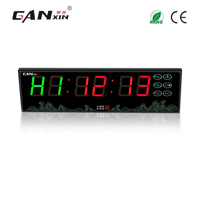 Ganxin Battery Ed Led Gym Crossfit Interval Timer Clock With Tabata For Sport Training