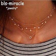 Женское Ожерелье с кулоном bls miracle многослойное ожерелье