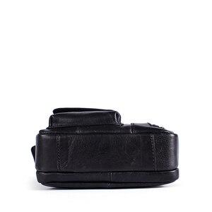Image 3 - WESTAL erkek omuzdan askili çanta erkekler için hakiki deri çanta casual crossbody çanta üst kolu çanta küçük postacı çantası erkek 8211