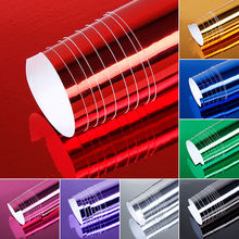 цена на Mayitr 1pc 152*52cm 8 Colors Chrome Mirror Vinyl Wrap Bubble Free Film Car Sticker Decal Sheet for Car Decoration