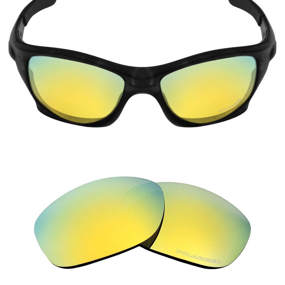 Mryok + поляризационные противостоять морской Замена Оптические стёкла для Oakley питбуль Солнцезащитные очки для женщин 24 К золото