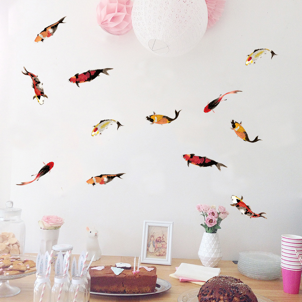 PA301 new Nordic Ins wall stickers carp creative wall stickers living room bedroom TV background decoration wall stickers in Wall Stickers from Home Garden