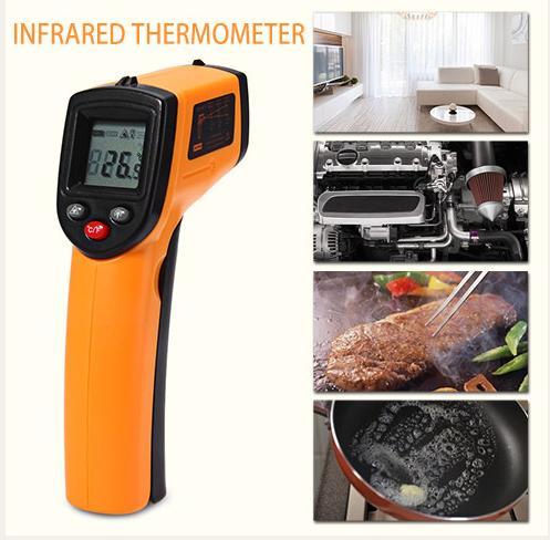 GM320 Digitale Termometro A Infrarossi Professionale Senza contatto Temperatura Tester IR Temperatura Laser Gun Dispositivo Gamma-50 a 380C