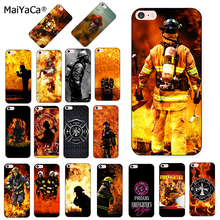 MaiYaCa Firefighter Heroes Fireman Luxury Cool Phone Accessories Case for Apple iPhone 8 7 6 6S Plus X 5 5S SE 5C case shell