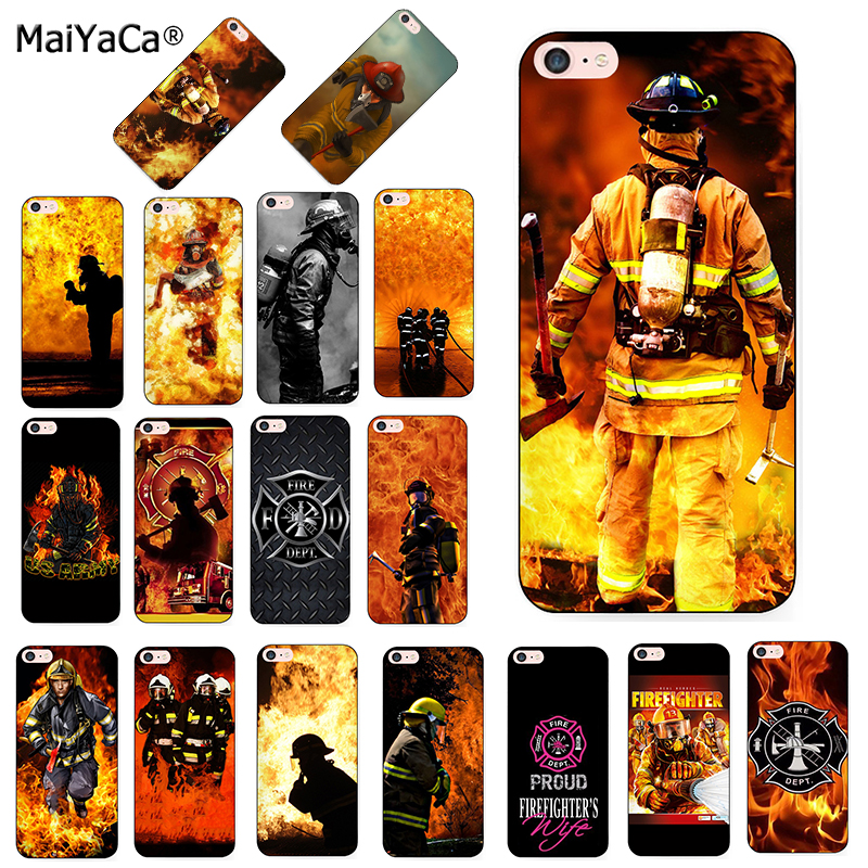 MaiYaCa Firefighter Heroes Fireman Luxury Cool Phone Accessories Case for iPhone 8 7 6 6S Plus X 5 5S SE 11pro max case shell
