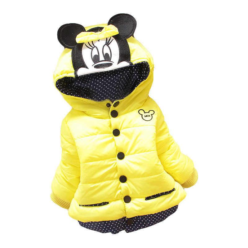 Grote Nieuwe Overhaast Size Baby Meisjes Jassen 2019 Herfst Winter Jas Voor Minnie Mouse Kids Kleding Kinderen Warme Bovenkleding Jassen