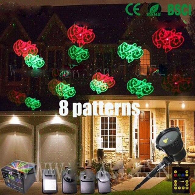 2016 new ip 65 auenweihnachtsstern projektor laserlicht dusche weihnachten dekoration licht red green sankt - Licht Dusche Ip