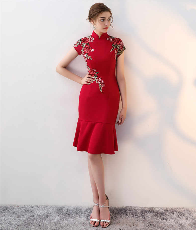 94e7f6aab6 Detail Feedback Questions about Chinese wedding evening party embroidery  modern Cheongsam qipao dress on Aliexpress.com | alibaba group