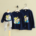 Family Matching Outsfits Mickey Father Mother Son Winter Clothes Mouse Clothing Set Mom Baby Daughter Long Sleeved Hoodies Warm