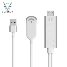 EGRINCY Wifi Display TV Dongle Receiver 1080P Miracast USB To HDMI HDTV Adapter Wireless WiFi Mirroring Cable For iPhone Samsung