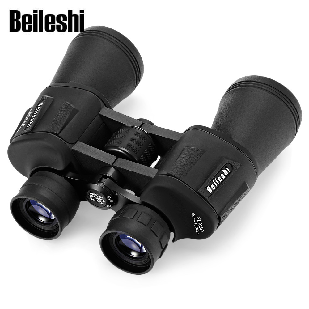 Beileshi 20X50 Binoculars 56M / 1000M HD Telescope Wide-Angle BAK4 Prism Binocular Outdoor Folding Telescope Hunting Binocular new outdoor binoculars 7x40 military grade waterproof telescope hd green film bak4 prism wide angle with range reticle