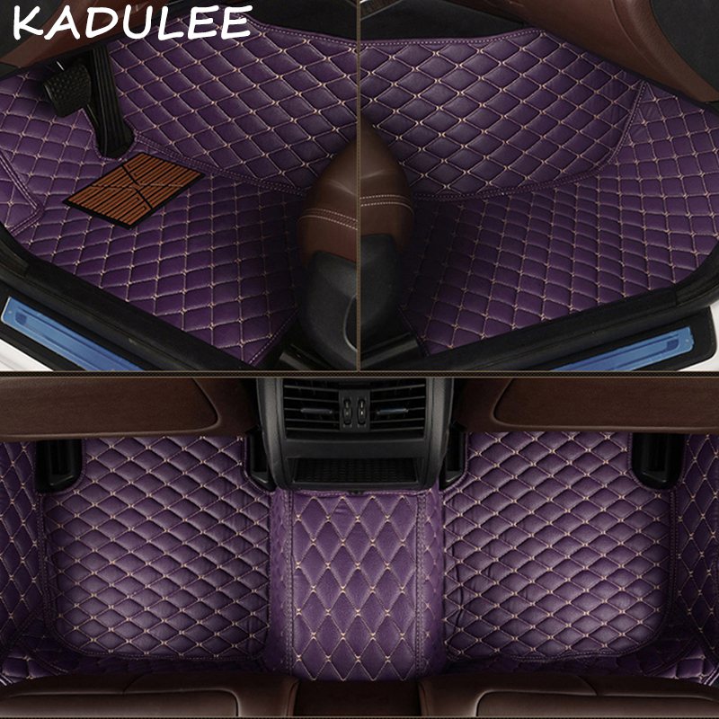 KADULEE PU leather car floor mats for Acura MDX 5 Seat and 7 Seat 2006 2007 2008-2018 Custom foot Pads automobile carpet coversKADULEE PU leather car floor mats for Acura MDX 5 Seat and 7 Seat 2006 2007 2008-2018 Custom foot Pads automobile carpet covers