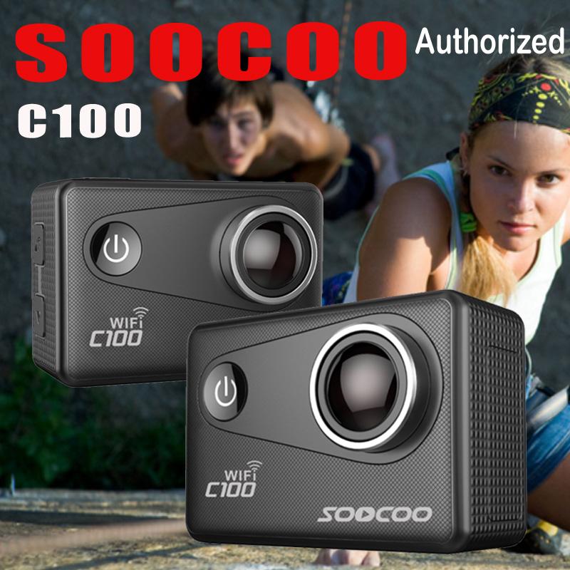 Prix pour SOOCOO C100 4 K Wifi Action Sport Caméra Intégré Gyro avec Option GPS Extension NTK 96660 20MP Plongée Mode Nuit 5X Zoom DV Cam