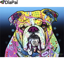 DIAPAI 5D DIY Diamond Painting 100% Full Square/Round Drill Animal color dog Diamond Embroidery Cross Stitch 3D Decor A21921 diapai 100