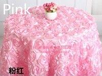 Pink màu sắc wedding bảng vải thêu rosette flower 3D bảng bìa khách sạn tiệc đảng bàn tròn trang trí trên bán