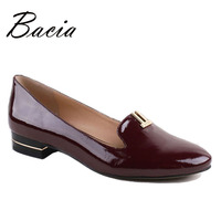 Bacia Wholesale New Popular Round Toe Real Leather Flats Women S Vintage Carved Red Black Blue