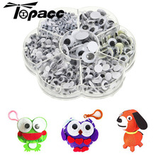 700Pcs Doll Eyes 4/5/6/7/8/10/12mm Activities Moving Eye Plastic Safety Wiggling For Accessories Children DIY Toys