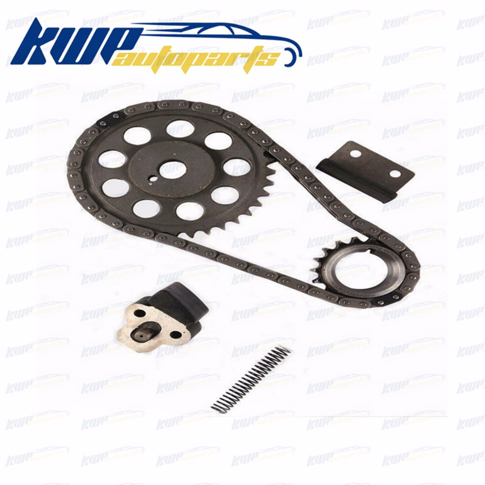 Double row timing chain kit with gears for toyota corolla 1968 1982 3k 4k brand