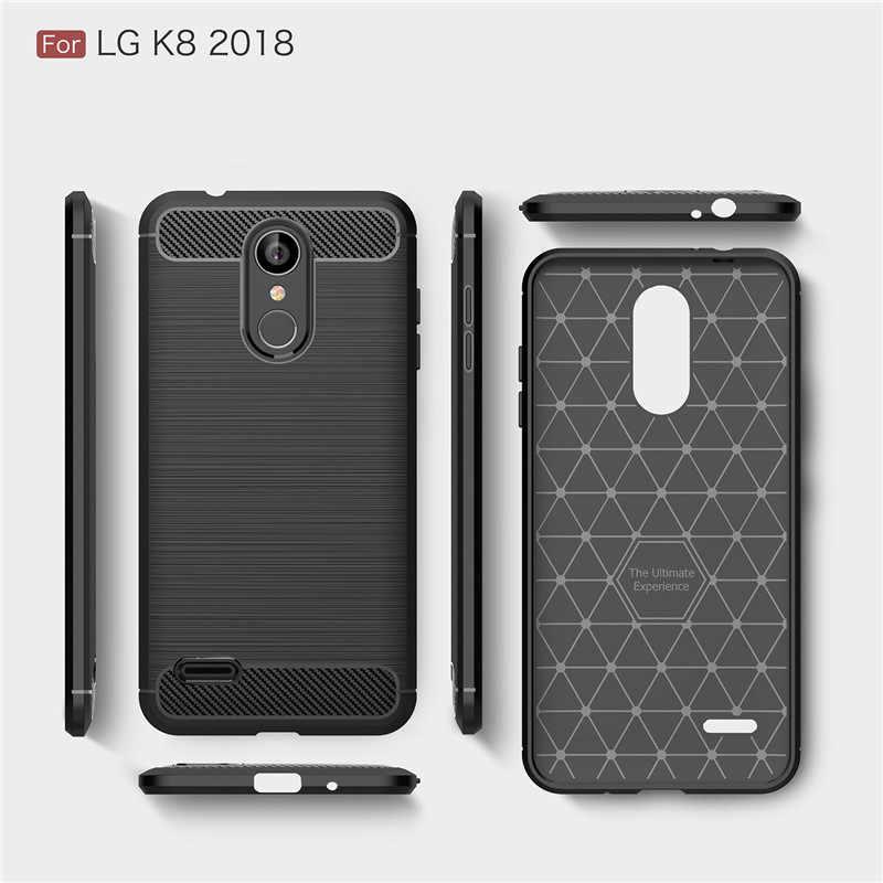 Per la Copertura di LG K8 2018 Caso Per LG K9 WolfRule Morbido Robusto TPU Del Respingente Cassa Del Telefono Del Sacchetto Per LG K8 2018/K9 Funda Copertura 5''