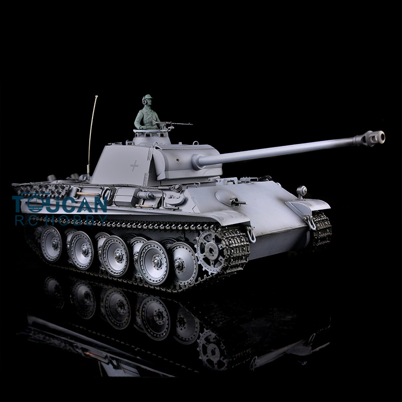 1/16 Scale HengLong Gray German Panther G RTR RC Tank Upgraded Metal Version Tracks Driving Wheels 3879 henglong 3879 3879 1 1 16 rc tank parts metal drive wheels 2pcs set free shipping