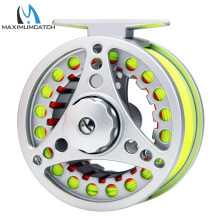 Maximumcatch Fly Reel and Line Combo 1-6wt Silver Fly Reel Set with fishing line Combo