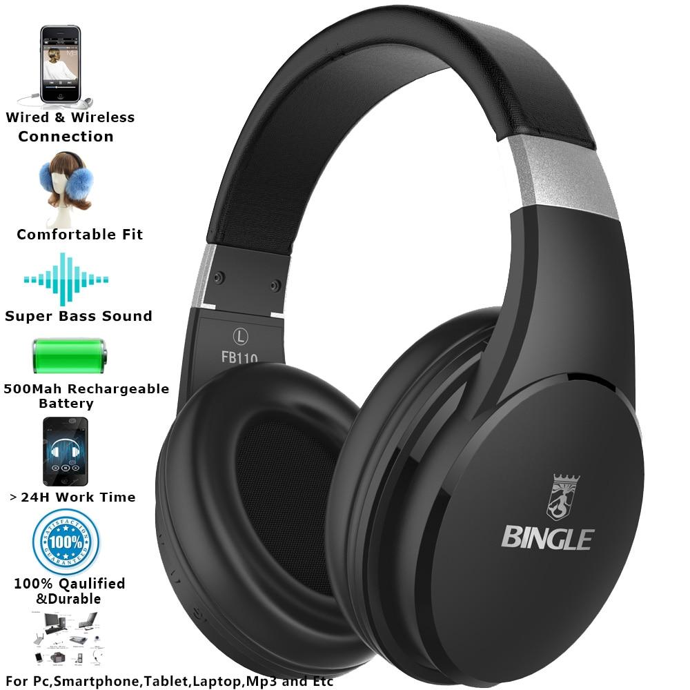 Bingle FB110 2019 Best Quality Audio Technica Studio Over Ear Noise Canceling Stereo Wireless Bluetooth Headphones