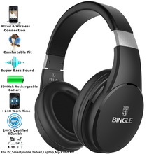 Bingle FB110 2019 Best качество аудиотехника Studio за ухо шум шумоподавления стерео беспроводной Bluetooth наушники и гарнитуры