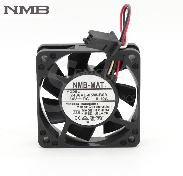 For NMB 2406VL-05W-B69 24V 0.10A 6015 60mm 6cm <font><b>60</b></font>*<font><b>60</b></font>*15 <font><b>mm</b></font> waterproof <font><b>fan</b></font> image