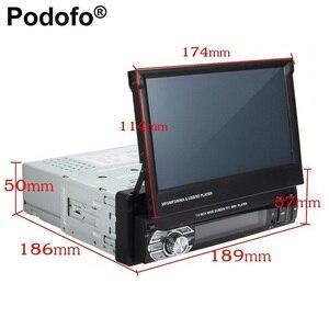 """Image 5 - Podofo 7 """"Android Mirror Link Radio samochodowe odtwarzacz MP5 Bluetooth GPS DVD AUX IN /FM Autoradio Multimedia do uniwersalnego Audio stereo"""