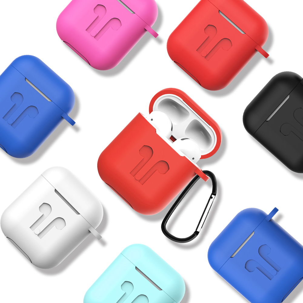 Wireless Bluetooth Headphone Earphone Protector Case For Apple Airpods Protective Case For Airpods With Hook Without Earphone