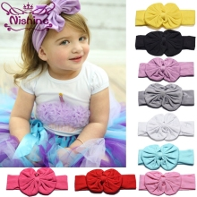 Nishine Girl Headband Knot Tie Headwrap Kids Hairband Turban Bow Tie Bow-knot Girls Hair Accessories цена 2017