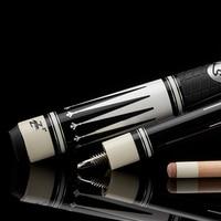 China Preodira BK Billiard Sticks 1 2 Split Pool Cue Nine Ball Maple Shaft Black White