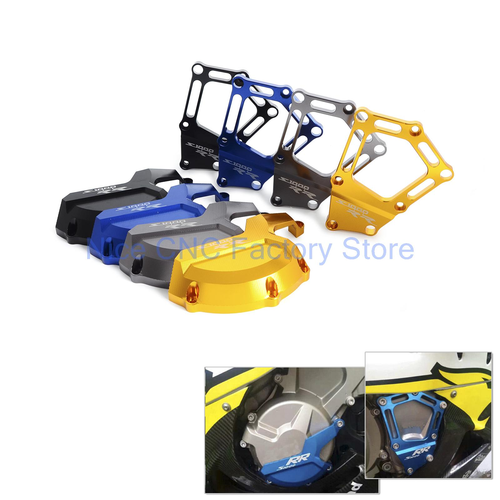 Engine Stator Starter Cover Frame Slider Protector For BMW S1000R 2014-2017  S1000RR 2010-2017  HP4 2012-2014  S1000XR 2015-2017 new motorcycle aluminum frame slider blue engine stator starter cover slider protector for bmw s1000rr hp4 k42 k46 2009 2015