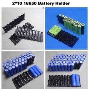 Image 3 - 4 Teile/los 18650 batteriehalter Zylindrischen zelle 2*10 kunststoff halter 18650 lithium ionen batterie bracket kunststoff fall Großhandel
