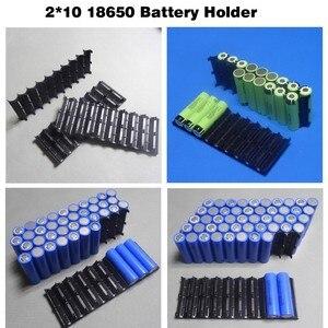 Image 3 - 4Pcs/lot 18650 battery holder Cylindrical cell 2*10 plastic holder 18650 lithium ion battery bracket plastic case Wholesale