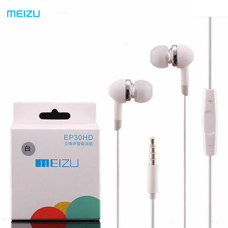 Meizu EP30HD Stereo Sound in-ear Earphones Headphone With MIC & Volume Button Headset For Meilan M9 M8 M7 PRO MX4 MX5 MX3 Xiaomi