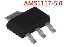 free shipping 100PCS AMS1117-5.0 AMS1117 5.0 5.0V 1A SOT-223 Chip is 100% work of good quality IC