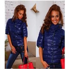 Spring Autumn Cotton Coat Women Winter Jacket Women Half Sleeve D815