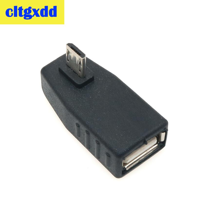 Image 4 - cltgxdd USB Female to Micro USB Male 90 Degree Down right Angle Left Angle UP OTG Adapter For Mobile phone MP3 Black Connector-in Computer Cables & Connectors from Computer & Office