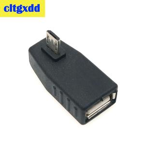 Image 4 - cltgxdd USB Female to Micro USB Male 90 Degree Down right Angle Left Angle UP OTG Adapter For Mobile phone MP3 Black Connector