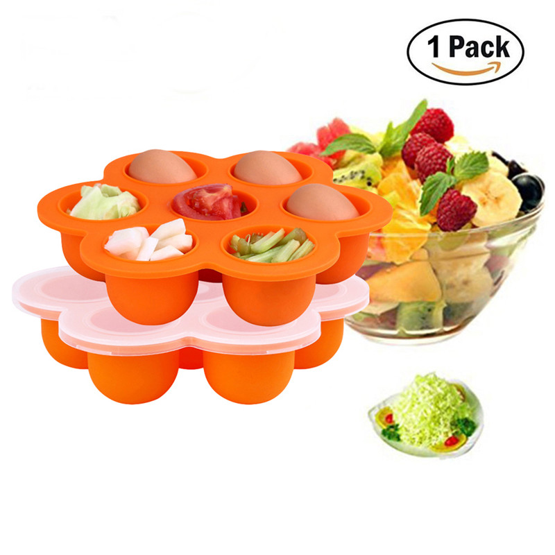 New Cavities Silicone Egg Mold Baby Food Freezer Trays Lid