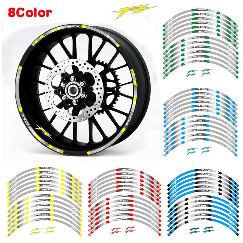US $11 33 40% OFF|8 Style High quality Motorcycle Wheel Tire Rim Stickers  17inch wheel For Yamaha FZ1 FZ6 FZ 07 FZ8 FZ 09 FZ 10 FZS1000 FAZER-in