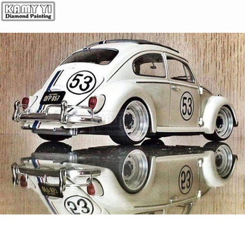 5D-DIY-Diamond-Embroidery-Classic-Car-From-Volkswagen-Complete-Square-Diamond-Embroidery-Stitch-Diamond-Painting-Beetle LK1 - discount item  38% OFF Arts,Crafts & Sewing