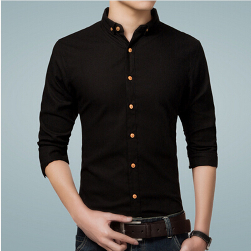 Online Get Cheap Black Cotton Shirts for Men -Aliexpress.com ...