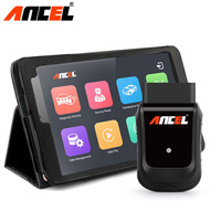 Ancel X5 OBD2 Wifi Scanner Car Diagnostic Tool Auto Scanner + 8 Windows Tablet Multi Language Full Systems Diagnostic Scanner