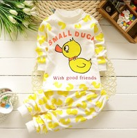 Children Clothing Sets Baby Girl Underwear Clothes Cotton T Shirt Pants Cartoon Image Homewear Pajamas Small