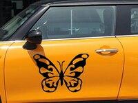 2x Лидер продаж 2017 года бабочка автомобиля наклейки сбоку, грузовик Windows, автомобиль внедорожник двери, виниловые наклейки JDM